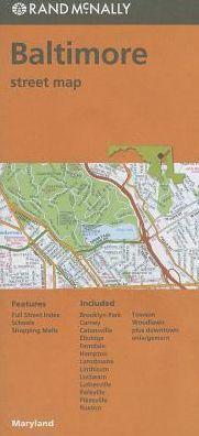 BALTIMORE mapa samochodowa RAND McNALLY USA