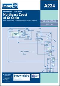 A 234 ST CROIX PÓŁNOCNO WSCHODNIE WYBRZEŻE mapa morska 1:90 000 IMRAY