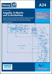 A24 Anguilla - St Martin - St Barthélémy wybrzeże mapa morska 1:100 000 IMRAY