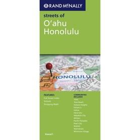 OAHU HONOLULU mapa samochodowa RAND McNALLY USA