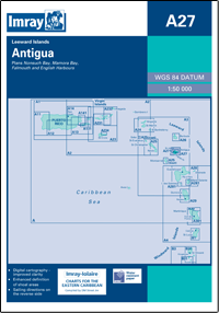 A27 Antigua wybrzeże mapa morska 1:50 000 IMRAY