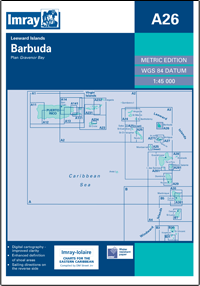 A26 Barbuda mapa morska 1:45 000 IMRAY
