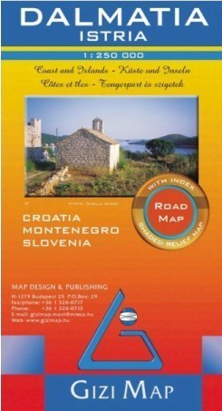 CHORWACJA - DALMACJA ISTRIA mapa samochodowa 1:250 000 GIZIMAP (Dalmacia Istria Road Map)