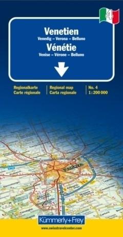 WENECJA - VERONA - BELLUNO mapa samochodowa 1:200 000 Kummerly + Frey