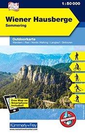 WIENER HAUSBERGE - SEMMERING mapa turystyczna 1:50 000 KUMMERLY + FREY