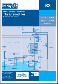 B3 GRENADYNY THE GRENADINES mapa morska 1:200 000 IMRAY