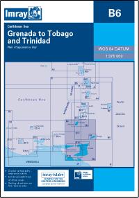 B6 Grenada - Tobago i Trinidad mapa morska 1:375 000 IMRAY