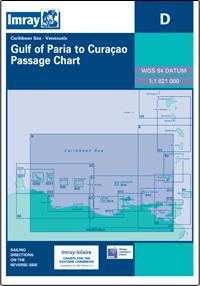 D WENEZUELA MORZE KARAIBSKIE Venezuela Gulf of Paria to Curacao mapa morska 1:1 021 000 IMRAY