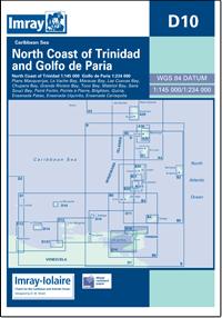 D10 Północne wybrzeże Trinidad - Golfo de Paria mapa morska IMRAY