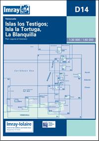 D14 Islas los Testigos - Isla la Tortuga - la Blanquilla mapa morska IMRAY