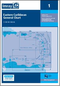 1 KARAIBY WSCHODNIE Eastern Caribbean General Chart mapa morska 1:1 800 000 IMRAY