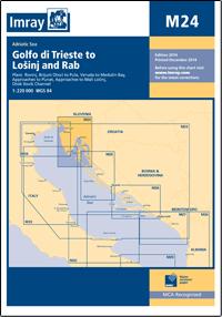 M24 Zatoka Triesteńska - Lošinj & Rab mapa morska 1:220 000 IMRAY