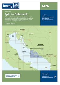 M26 Split - Dubrovnik mapa morska 1:220 000 IMRAY 2019