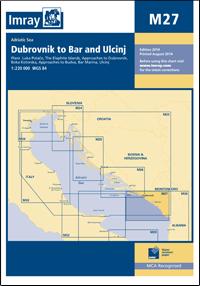 M27 Dubrovnik - Bar & Ulcinj mapa morska 1:220 000 IMRAY