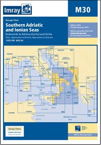 M30 Południowy Adriatyk & Morze Jońskie mapa morska 1:850 000 IMRAY
