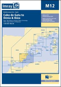 M12 Cabo de Gata - Dénia & Ibiza mapa morska 1:500 000 IMRAY