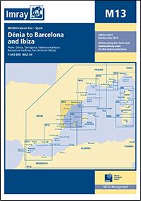 M13 Dénia - Barcelona & Ibiza mapa morska 1:440 000 IMRAY