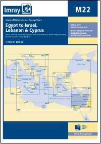 M22 Egipt - Izrael - Liban - Cypr mapa morska 1:785 000 IMRAY