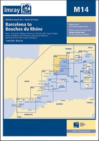 M14 Barcelona - Delta Rodanu mapa morska 1:440 000 IMRAY