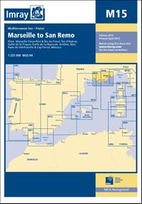 M15 MARSYLIA - SAN REMO mapa morska 1:325 000 IMRAY