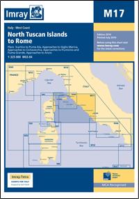 M17 Północne Wyspy Toskańskie - Rzym mapa morska 1:325 000 IMRAY
