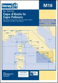 M18 Capo d'Anzio - Capo Palinuro mapa morska 1:325 000 IMRAY