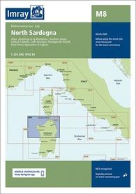M8 Północna Sardynia mapa morska 1:255 000 IMRAY 2020