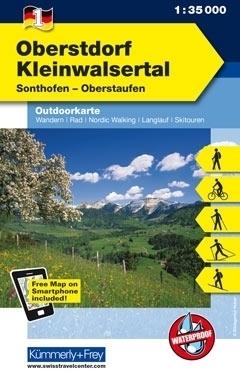 OBERSTDORF KLEINWALSERTAL laminowana mapa turystyczna 1:35 000 KUMMERLY FREY