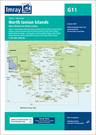 G11 Północne Wyspy Jońskie mapa morska 1:185 000 IMRAY