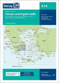 G14 Zatoka Sarońska i Argolidzka mapa morska 1:190 000 IMRAY 2020