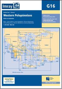 G16 Zachodni Peloponez mapa morska 1:190 000 IMRAY