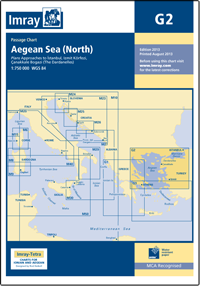 G2 PÓŁNOCNE MORZE EGEJSKIE Aegean Sea North mapa morska 1:750 000 IMRAY