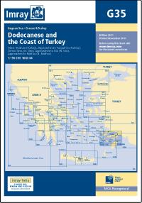 G35 Dodekanez - Wybrzeże Turcji mapa morska 1:190 000 IMRAY