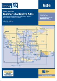 G36 Marmaris - Kekova Adasi mapa morska 1:200 000 IMRAY