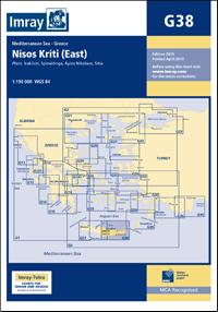 G38 KRETA CZĘŚĆ WSCHODNIA Nisos Kriti East mapa morska 1:190 000 IMRAY