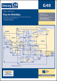 G40 Kas - Antalya mapa morska 1:200 000 IMRAY