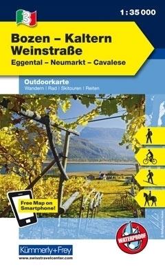 BOZEN - KALTERN  wodoodporna mapa turystyczna 1:35 000 KUMMERLY FREY