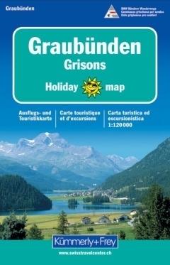 GRAUBUNDEN GRISONS mapa turystyczna 1:120 000 HOLIDAY KUMMERLY & FREY