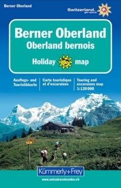 BERNER OBERLAND mapa turystyczna 1:120 000 HOLIDAY KUMMERLY & FREY