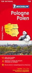 POLSKA mapa samochodowa 1:750 000 MICHELIN 2014