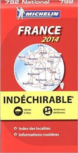 792 FRANCJA wodoodporna mapa samochodowa 1:1 000 000 MICHELIN 2014