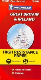 WIELKA BRYTANIA IRLANDIA wodoodporna mapa samochodowa 1:1 000 000 MICHELIN 2015