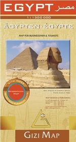 EGIPT mapa geograficzna 1:1 300 000 GIZIMAP (Egypt Geografical)