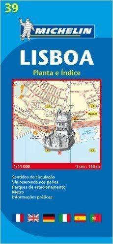 PORTUGALIA - LIZBONA plan miasta 1:11 000 MICHELIN
