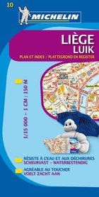 10 BELGIA LIEGE LUIK wodoodporny plan miasta 1:15 000 MICHELIN