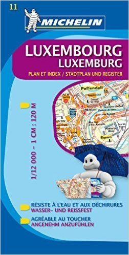 11 LUKSEMBURG plan miasta 1:12 000 MICHELIN