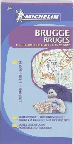 BELGIA - BRUGGE,BRUGES plan miasta 1:10 000 MICHELIN