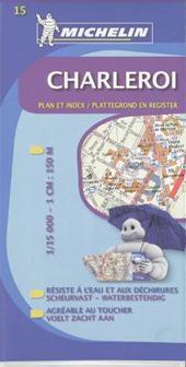 BELGIA - CHARLEROI plan miasta 1:15 000 MICHELIN