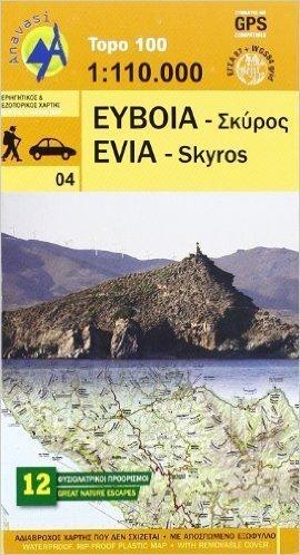 EUBEA - SKIROS mapa 1:110 000 ANAVASI GRECJA
