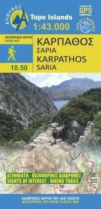 KARPATHOS SARIA mapa turystyczna 1:43 000 ANAVASI